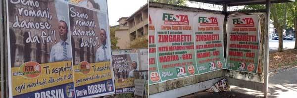 cartelloni politici abusivi