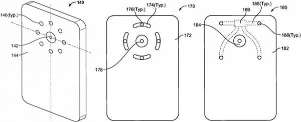 Le immagini allegate alla documentazione presentata da Google a USPTO per il brevetto relativo al flash multi-LED