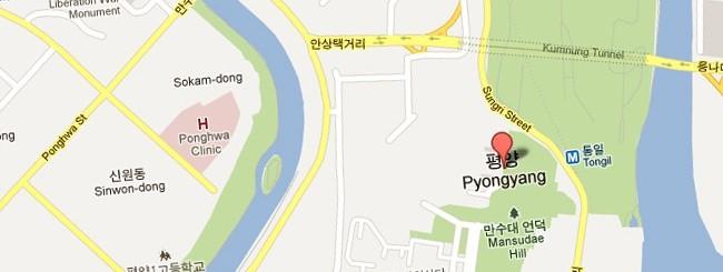 Corea del Nord su Google Maps