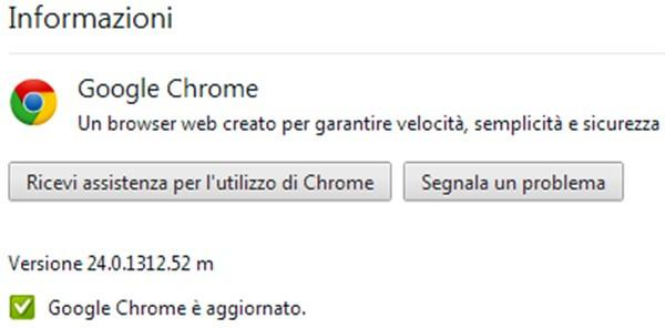 Google ha rilasciato oggi l'aggiornamento alla versione 24 del browser Chrome