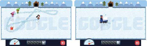 Il doodle interattivo di oggi, che Google dedica a Frank Zamboni, l'inventore della macchina per levigare le piste di ghiaccio