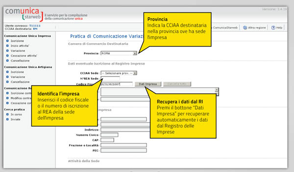 guida startup - iscrizione registro