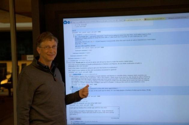 Bill Gates - Display touch Windows 8