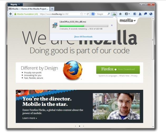 Firefox 20 Beta