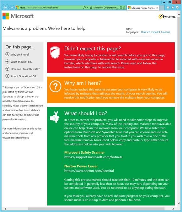 Microsoft e Symantec contro la botnet Bamital