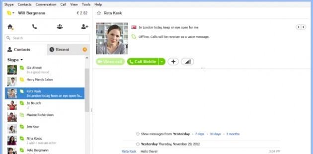 Skype 6.2 per Windows