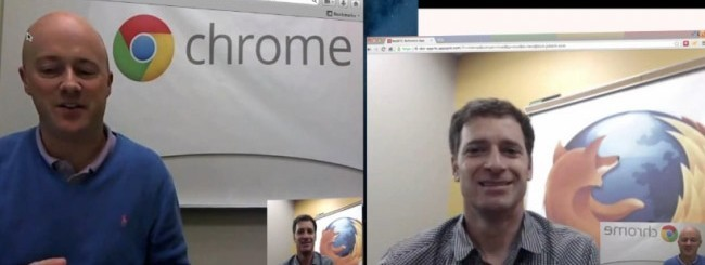WebRTC Firefox-Chrome