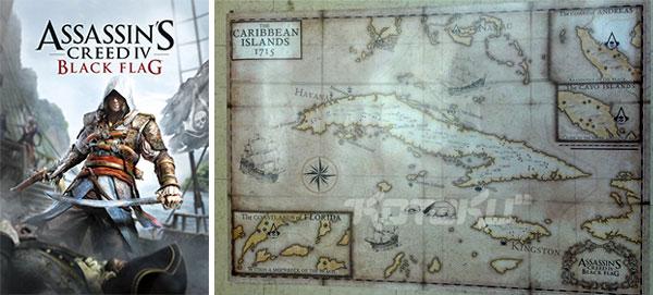 Box art e una mappa per Assassin's Creed 4: Black Flag, prossimo capitolo della saga Ubisoft