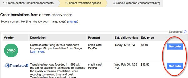 YouTube offre la traduzione dei sottotitoli a pagamento, grazie alla partnership con Gengo e Translated.net