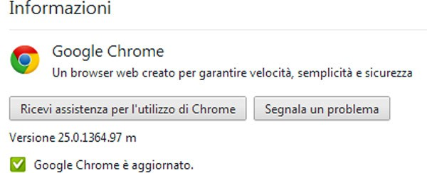 Disponibile per il download l'aggiornamento del browser Google Chrome alla versione 25