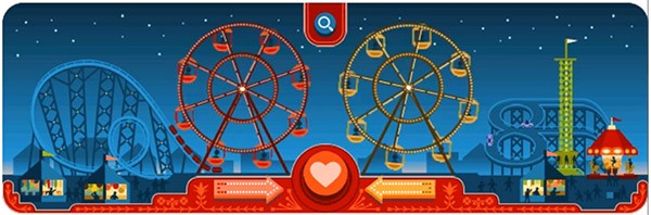 Google festeggia a modo suo San Valentino, la festa degli innamorati, con un doodle interattivo sul motore di ricerca