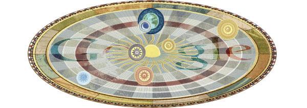 Il doodle animato che Google dedica oggi all'astronomo Niccolò Copernico