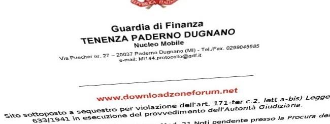 DownloadZoneForum sotto sequestro