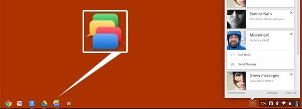 Ecco l'aspetto del sistema unificato per la messaggistica studiato da Google per Chrome OS (François Beaufort)