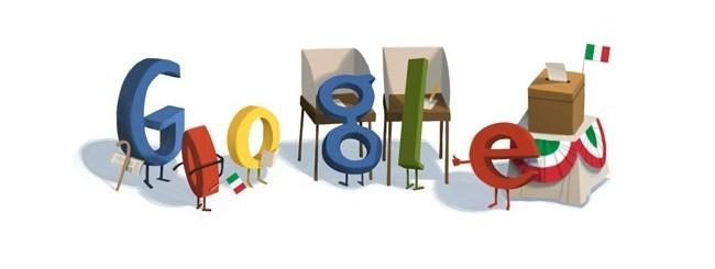 Google Doodle per le elezioni 2013