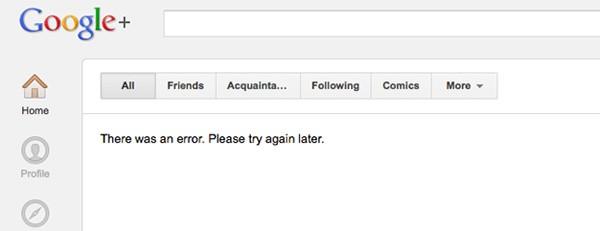Problemi di caricamento per lo stream di Google+ (Engadget)