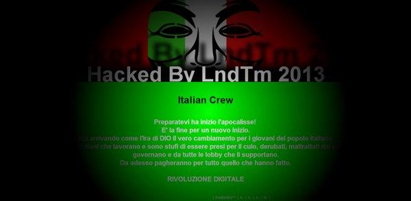 Defacement del Tribunale di Milano