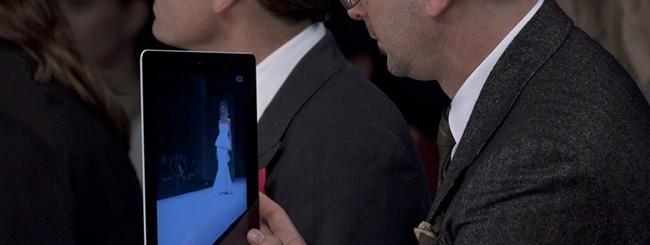 Sfilata via iPad