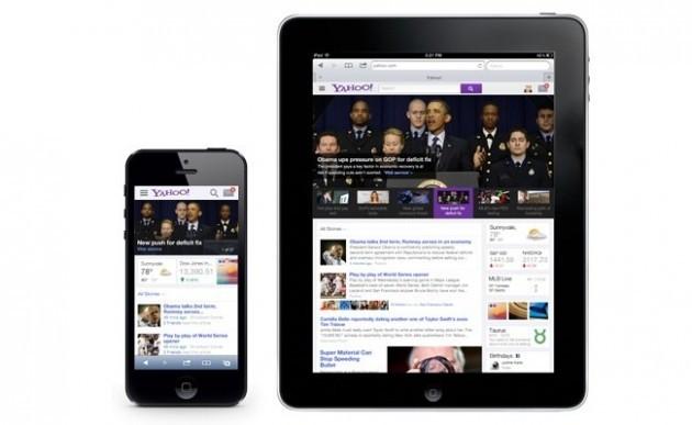 Yahoo su tablet e smartphone