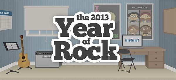 Year of Rock è la sezione di Instinct che mette a disposizione lezioni gratuite per chi vuole imparare a suonare la chitarra