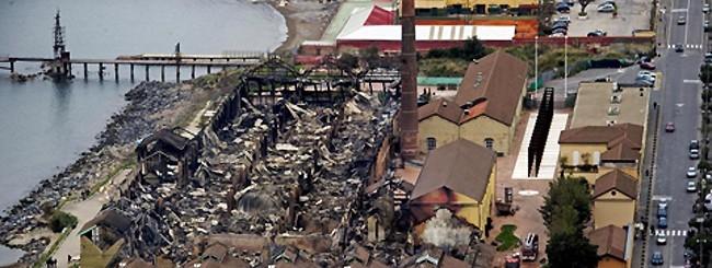 città della scienza - dopo l'incendio