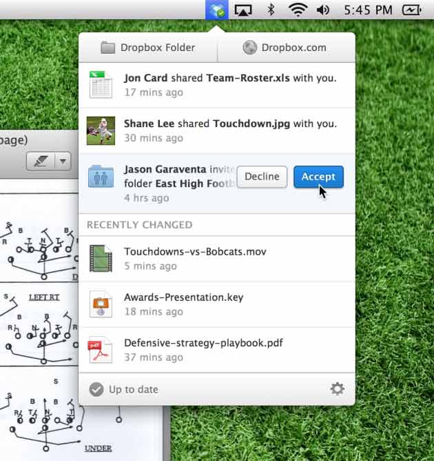 Dropbox per Mac