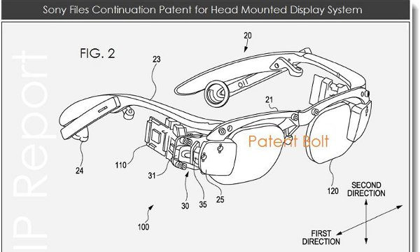 Parte del brevetto relativo al futuro head mounted display di Sony