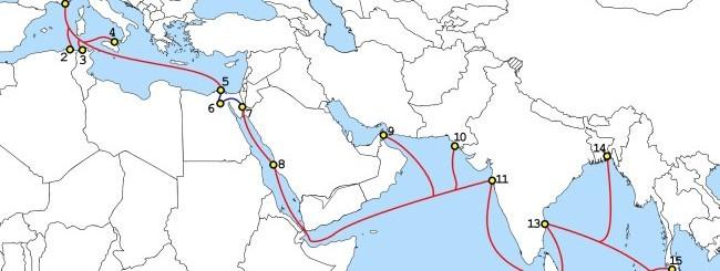 SEA-ME-WE 4 Route