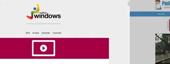 Windows Blue - IE11 Desktop Swipe Navigation