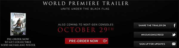 Assassin's Creed 4 Black Flag, uscita fissata per il 29 ottobre (All Games Beta)