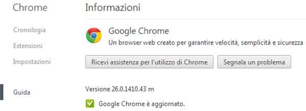 Google ha rilasciato un nuovo aggiornamento per il suo browser: ecco Chrome 26.0.1410.43, disponibile da oggi