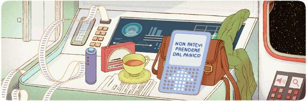 Il Google doodle animato di oggi, dedicato allo scrittore Douglas Adams