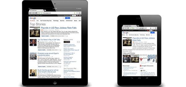 Come si presenta la nuova interfaccia di Google News sui display dei tablet