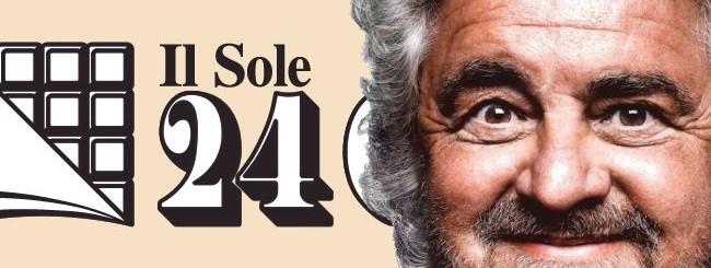 Beppe Grillo e il Sole 24 Ore
