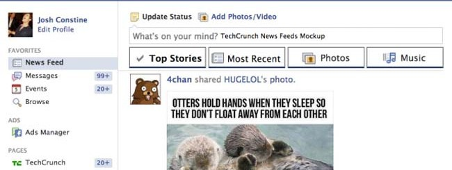 notizie feed facebook