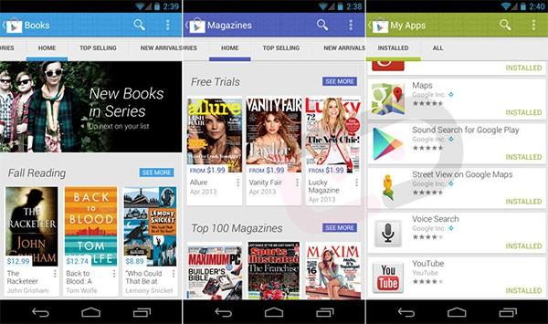Screenshot per la versione 4.0 dell'applicazione Google Play Store (DroidLife)