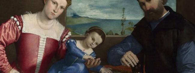 Ritratto di Giovanni della Volta con la moglie e i figli (Lorenzo Lotto)