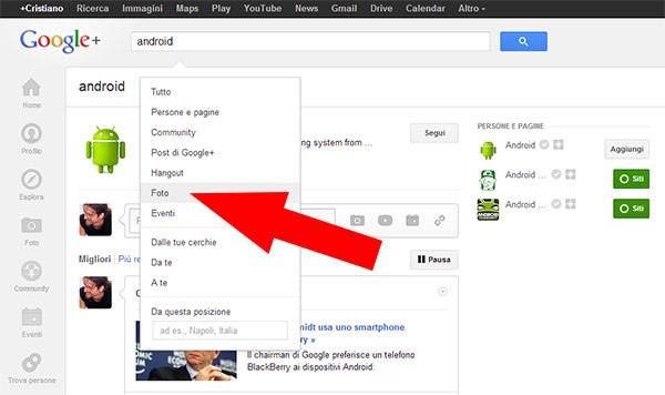 Il social network Google+ ha introdotto un nuovo filtro per la ricerca, utile per trovare le fotografie pubblicate
