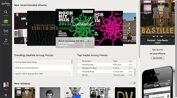 Spotify si potrà ascoltare anche all'interno del browser, ecco l'interfaccia