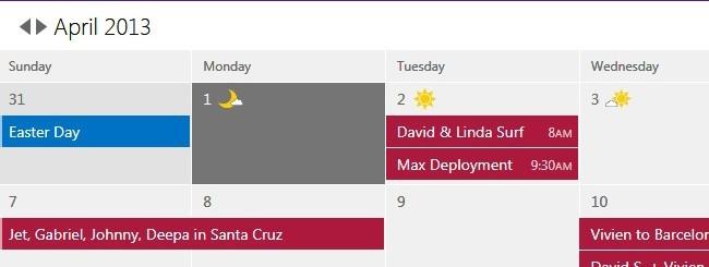 Calendario Outlook.com