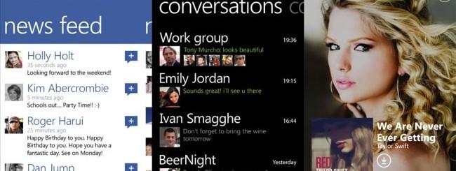 Facebook - Viber - Nokia Music