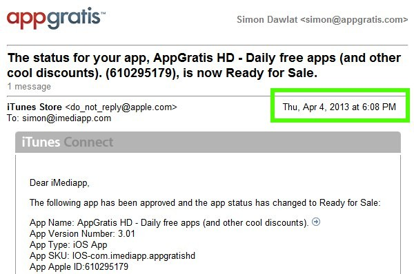 AppGratis approvata su App Store