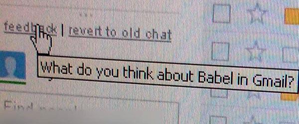 Uno screenshot conferma l'integrazione di Google Babel in Gmail (TechRadar)
