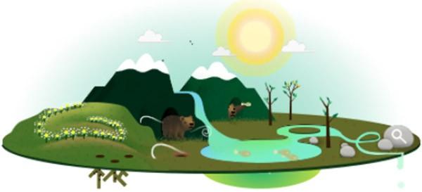 Il Google doodle di oggi, dedicato alla Giornata Mondiale della Terra