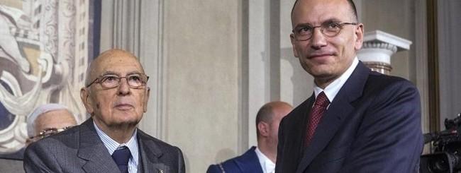 Giorgio Napolitano e Enrico Letta