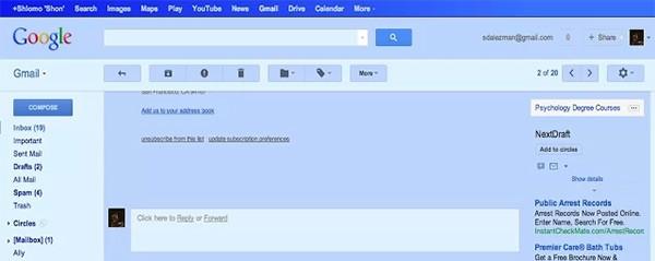 Gmail Blue, il pesce d'aprile di Google, è diventato realtà grazie a un'estensione per Chrome