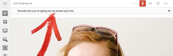 Un messaggio avvisa gli utenti quando il microfono viene disattivato durante gli hangout di Google+