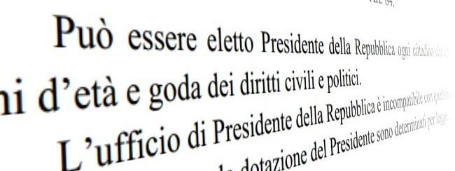 Costituzione, art.84