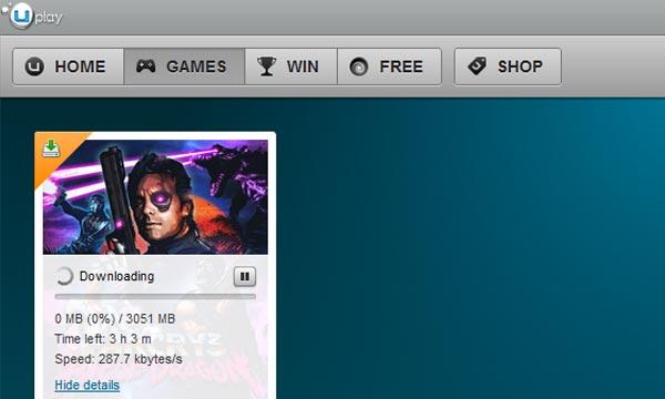 Lo screenshot che mostra il download di Far Cry 3: Blood Dragon da uPlay (Eurogamer)