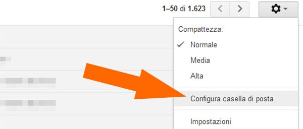 """Gmail: come attivare la nuova interfaccia della casella """"Posta in arrivo"""" (step 1)"""